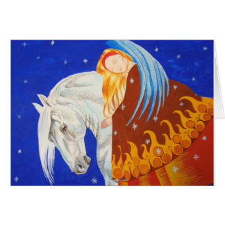 Horse and Angel Card