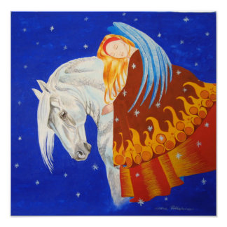 Horse and Angel Posters