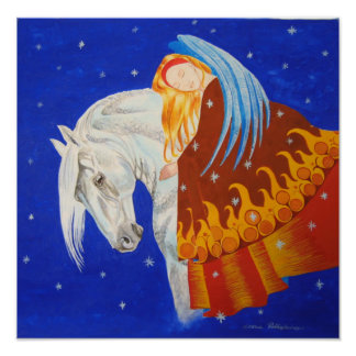Horse and Angel Print