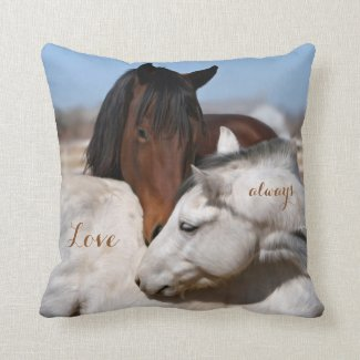 Horse and Animal Lovers Country Pillow