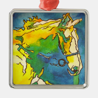 Horse and Bridle Metal Ornament
