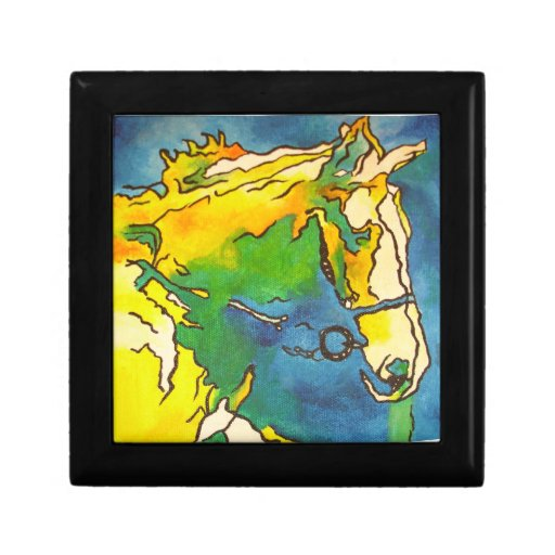 Horse and Bridle Trinket Box