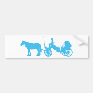 Horse and Buggy Bumper Sticker