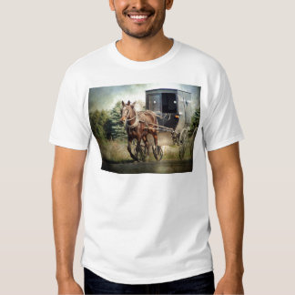 Horse and Buggy in Rural Iowa Shirt