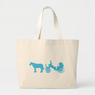 Horse and Buggy Large Tote Bag
