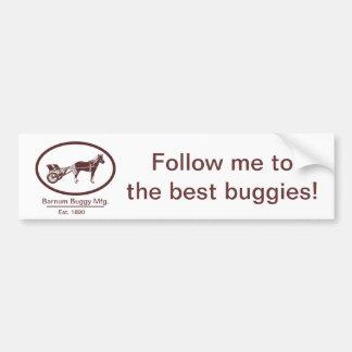 Horse and Buggy Logo Bumper Sticker