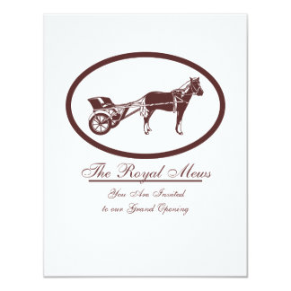 Horse and Buggy Logo Card