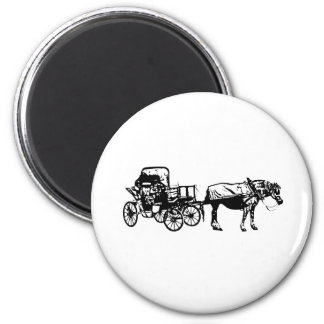 Horse and Buggy Refrigerator Magnets