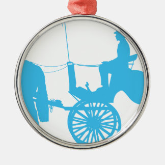 Horse and Buggy Metal Ornament
