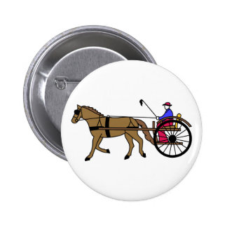 Horse and Buggy Pinback Button