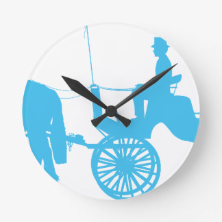 Horse and Buggy Round Clock