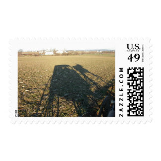 horse and buggy shadow postage