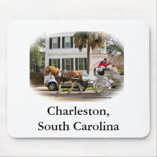 Horse and Buggy Tour in Charleston SC Mousepads