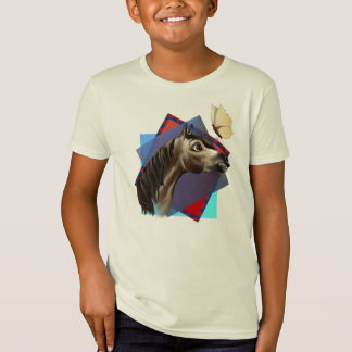 Horse and Butterfly Expressions BG T-Shirt
