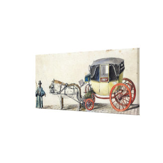 Horse and Carriage, 1825 Canvas Print