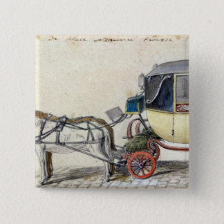 Horse and Carriage, 1825 Pinback Button