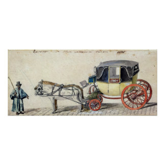 Horse and Carriage, 1825 Poster
