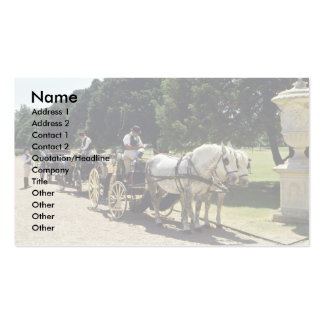 Horse and carriage, Hampton Court, England Business Card
