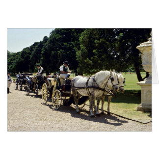 Horse and carriage, Hampton Court, England Greeting Cards