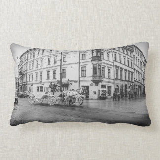 Horse and Carriage in Krakow, Poland Pillow