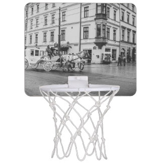 Horse and Carriage in Krakow, Poland Mini Basketball Backboards