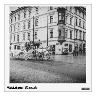 Horse and Carriage in Krakow, Poland Wall Sticker