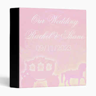 Horse and Carriage modern watercolor wedding gift 3 Ring Binder