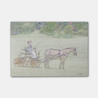Horse and carriage post-it post-it notes