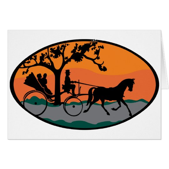 Horse and Carriage Ride Card