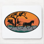 Horse and Carriage Ride Mouse Pad