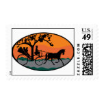 Horse and Carriage Ride Postage Stamp