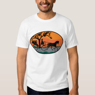 Horse and Carriage Ride Tee Shirt