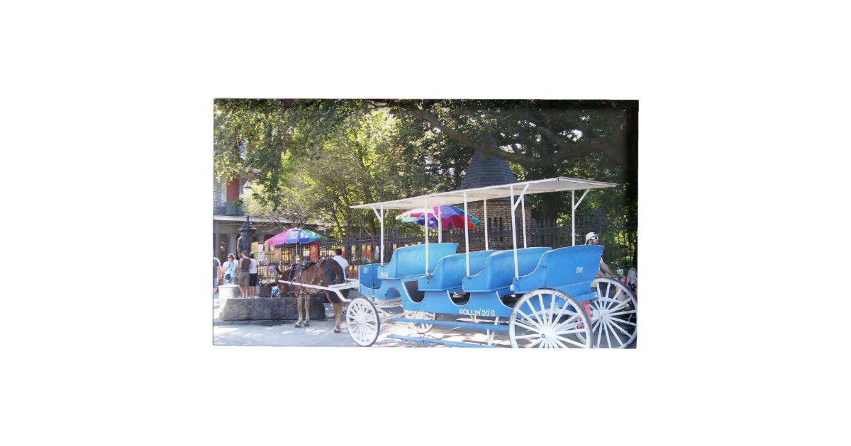 Horse And Carriage Table Card Holder Zazzle