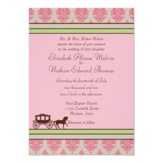Horse and Carriage Wedding Invitation