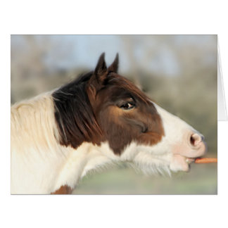 Horse and Carrot Blank Extra Large Greeting Card