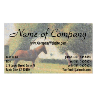 Horse and Cart by Georges Seurat Business Cards