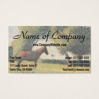 Horse and Cart by Georges Seurat Business Card