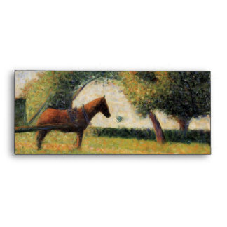 Horse and Cart by Georges Seurat Envelope