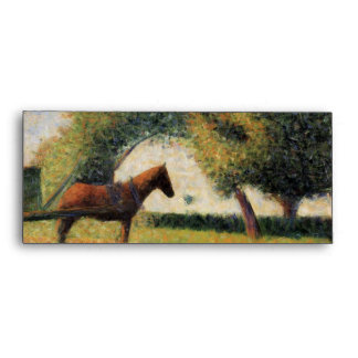 Horse and Cart by Georges Seurat Envelopes