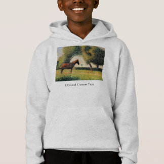 Horse and Cart by Georges Seurat Hoodie