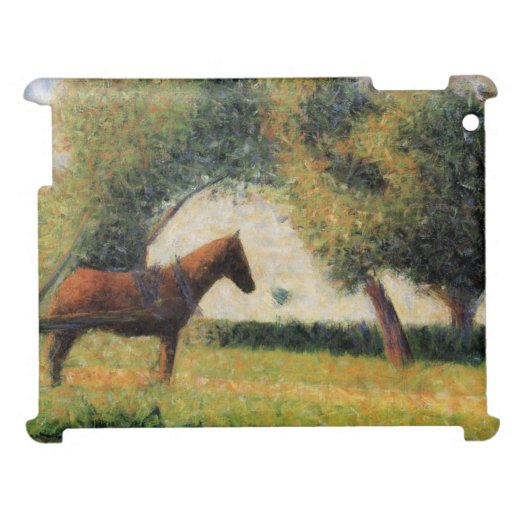 Horse and Cart by Georges Seurat iPad Case