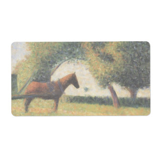 Horse and Cart by Georges Seurat Label