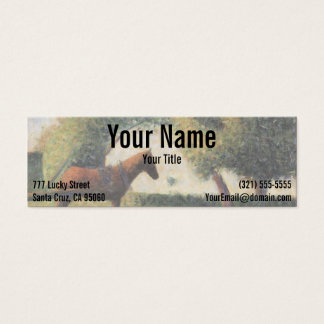 Horse and Cart by Georges Seurat Mini Business Card