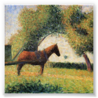 Horse and Cart by Georges Seurat Photo Print