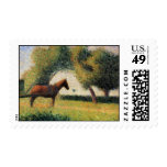 Horse and Cart by Georges Seurat Postage Stamp