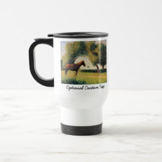 Horse and Cart by Georges Seurat Travel Mug