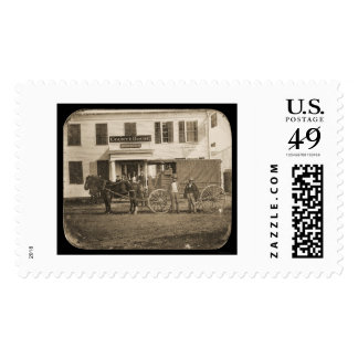 Horse and Cart Daguerreotype 1853 Stamps