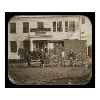Horse and Cart Daguerreotype 1853 Poster