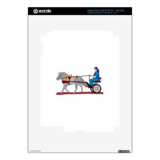 Horse And Cart Skins For iPad 3