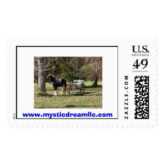 Horse and Cart, www.mysticdreamllc.com Stamp